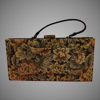 Snap top, Over the Wrist Tapestry Handbag - b171