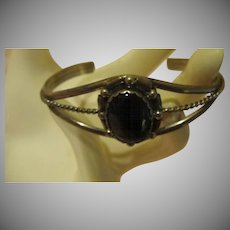 Split down the Middle Triple band Silver Cuff Bracelet - Free shipping