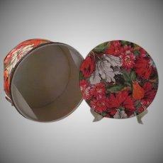 Flower Printed Vinyl Sewing Basket - b