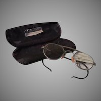 Wire Rim Spectacles in Hard Case - b58