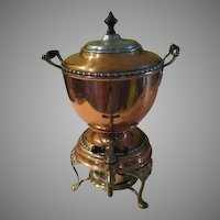 Manning Bowman Copper with Mixed Metal Coffee Urn/samovar - bfc