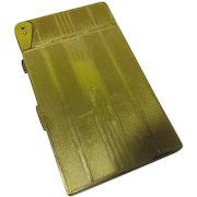 American Beauty by Elgin American Gold Tone Cigarette Case with Lighter - b63