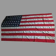 Hooray for the Red, white and Blue 48 Star Top Stitched American Flag - b65