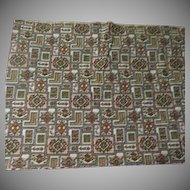 Avocado and Rust Print Fabric - L7