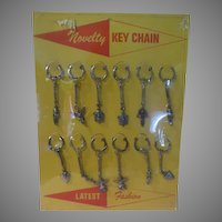 Southwest Novelty Key chain on POS Cardboard Stand - b172
