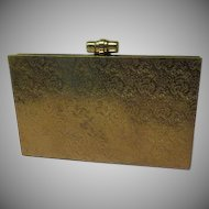 Embossed Brass Snap Close Clutch Handbag/purse - b173
