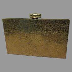 Embossed Brass Snap Close Clutch Handbag/purse - b173