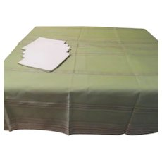 Semi-sheer Tablecloth with liner and Napkins - b174