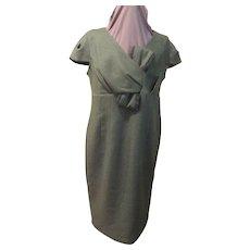 How tweed It is Green Wrap Top Dress/skimmer