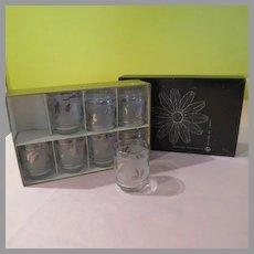 Libby ''Silver Foliage'' Glasses in Box - b175