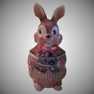 Rabbit with Bow Tie Cookie Jar - g