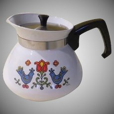 Corning Ware Country Festival 6-cup Tea Pot - b109