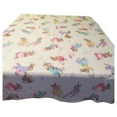 Playful Bunnies Tablecloth - b121