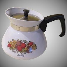 "Corning Ware ''Le Lhe"" 6-cup Tea Pot - b177"