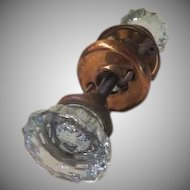 Glass Doorknob with Brass Hardware - b179