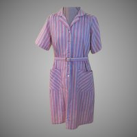 Rainbow Stripe Carolina Maid Shift/dress