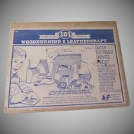 American Toy Woodburning and Leathercraft kit #166