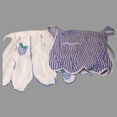Check Them Out Blue Check Aprons - b180