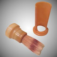 Shave and a ... Plastiset Sterilized Fuller Bakelite Shaving Brush on Stand - b183