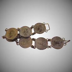 British Farthing Coin Bracelet - Free shipping