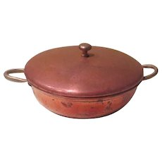 Country Kitchen Copper Gratin Pan with Lid - g