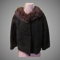 Mink Around the Collar Persian Lamb Jacket
