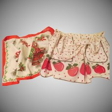 Christmas bells and Apples Aprons - b188