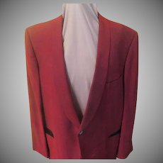 After 6 Rudofker Narrow lapel Maroon Sharkskin Tux Jacket
