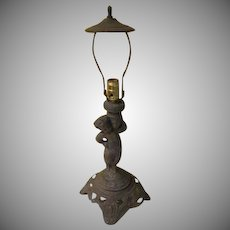 Cherub Figural Table Lamp - - g