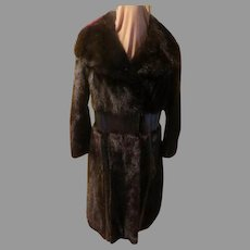 Notch Collar Espresso Mink Coat