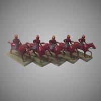 Native Americans on Horseback Metal Toys - b190