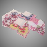 Pink, Pink and more Pink Handkerchiefs - Free shipping- b190