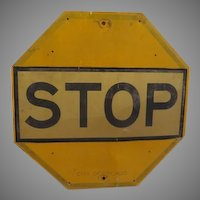 Who Knew Yellow Stop sign - g