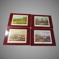 Tally Ho! Lady Clare Fox Hunting Table Mats Made in England in Box L3