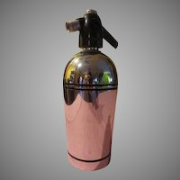 Very Deco chrome and Black Sparklets Seltzer/siphon Bottle - b195