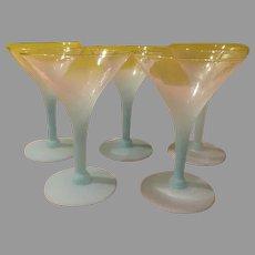 Aqua Blendo Martini Glasses - b195
