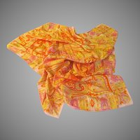 Peachy Pink Paisley Print Scarf - free Shipping
