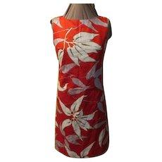 Red Hawaiian Printed Gary Jay Dress