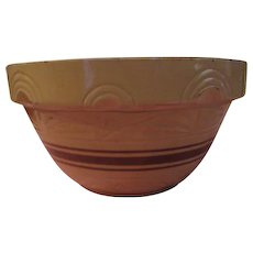 Arched on Shoulder Robinson Ransbottom 14'' Yellow ware Bowl - g