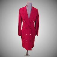 Brassed Off Red Coat Dress