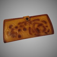 Tooled Leather Wallet - b200
