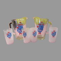 Heilman's Old Style Pitcher and Mugs - b197
