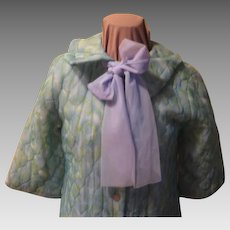 Sweet dreams Quilt Robe with Chiffon Tie