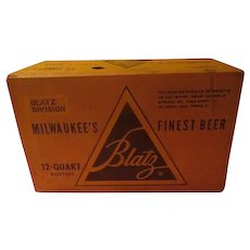 Blatz Milwaukee's Finest Beer Quart Bottle case
