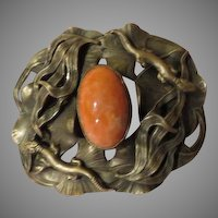 Leaping lizards Art Nouveau Belt Buckle - free shipping