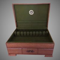 Naken Solid Oak Mediterranean Collection Silverware Chest