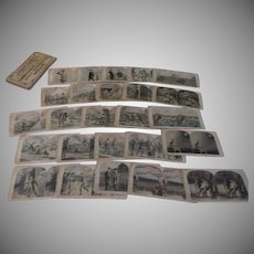 Uncle Sam's soldier Boys 25 Stereoviews in Box
