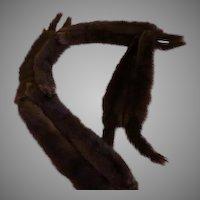 Wrap Around 8 pelt Fur piece - b203