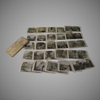 A Tour of Italy and the Swiss Alps 25 Stereoviews in box