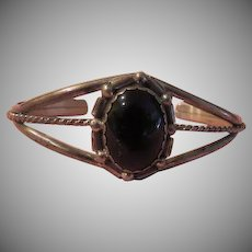 Onyx Oval Sterling Split Shank Bracelet - Free shipping